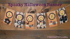 FIBERARTSY/craftsy: Halloween Countdown: Spooky Banner