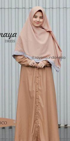 Hijab Casual, Hijab Dress, Women's Fashion, Brown, Red, Dresses, Fashion Women, Vestidos, Rouge