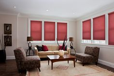 February is the month of red! Have you seen our Color Lux cellular shades in Sonic Red? #colorlux