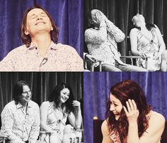 Robert Carlyle and Emilie de Ravin on a panel at the Paley Centre - I love their faces - nice that they seem to get on well :)