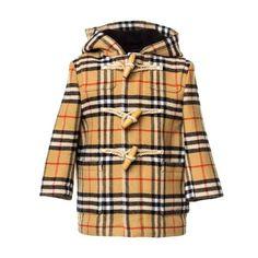 Intramontabile montgomery in lana con motivo vintage check firmato  Burberry c7a7f501346