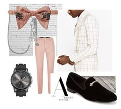 """""""SUITSTRAVAGANZA"""" by juanjoduarte ❤ liked on Polyvore featuring Valentino, Gucci, Giuseppe Zanotti, men's fashion and menswear"""