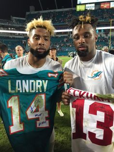 bfc530cbc Monday night football 12 14 15 Jarvis Landry and Odell Beckham Jr. Nu