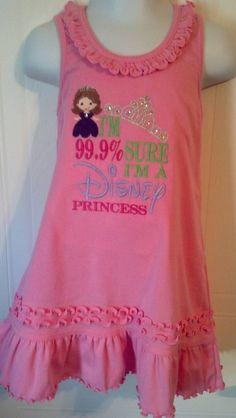 99% Sure I'm a Disney Princess ShirtDressTank by rowanmayfairs