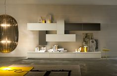 Arredamento moderno zona giorno Buffet, Modern Wall Units, Console Cabinet, Wall Cabinets, Modern Houses, Tv Unit, Cabinet Design, Entryway Decor, Sweet Home