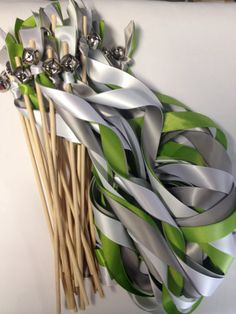 50 Wedding Wands: Any Color Two Satin Ribbon Streamers With Bells on Etsy, $61.00