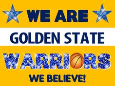 Golden State Warriors Poster Idea Stephen Curry Basketball, Love And Basketball, Basketball Teams, Warrior Logo, Warrior 1, We Are Golden, Splash Brothers, California Love, Nba Champions