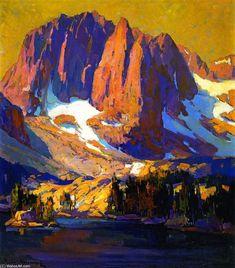 Mount Alice at Sunset, Oil On Canvas by Franz Bischoff (1864-1929, Austria)