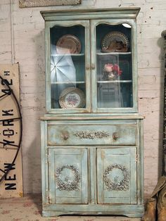 Painted Cottage Chic Shabby Aqua One of a KInd by paintedcottages, $395.00