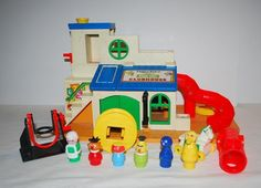 Vintage Little People Sesame Street Clubhouse Figures Accessories Dawn Grover #FisherPrice