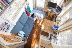 Kleine Räume einrichten - Wohnzimmer in einem Minihaus