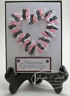 Ribbon n bows Valentine's Day Card