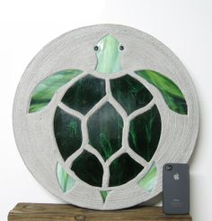 Sea Turtle Garden Stepping Stone Large 18 by HappyTrailsSS on Etsy, $49.95