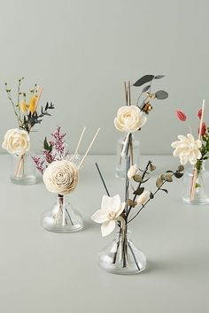 Floral Bouquet Diffuser by Anthropologie in Beige Size: All, Fragrance Diffuser Diy, Home Spray, Herb Farm, Anthropologie Home, Glass Vessel, How To Preserve Flowers, Floral Bouquets, Fragrance Oil, Dried Flowers