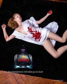 Murder II - The new fragrance for men by Ax Aler, 2014. Digital on canvas 100x150 cm.