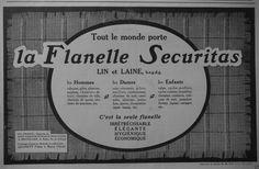 Publicité 1909 LA Flanelle Securitas LIN ET Laine Leurent Frères Advertising | eBay