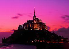Sunset , Mont St Michel