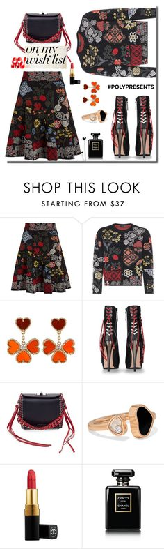 """#PolyPresents: Wish List"" by faten-m-h ❤ liked on Polyvore featuring Alexander McQueen, Van Cleef & Arpels, Chopard, Chanel, contestentry and polyPresents"