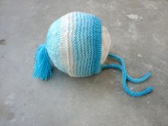 Blue baby bonnet in soft angora, Ready to ship in size newborn Baby Socks, Baby Hats, Baby Corner, Yarn Ball, Happy Kids, Little Gifts, Baby Knitting, Baby Blue, Knitted Hats