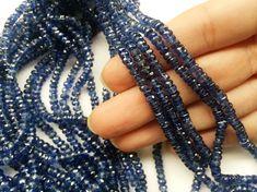 Kyanite Faceted Rondelle Beads Blue Kyanite Beads by gemsforjewels
