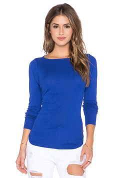 d062223cc0484 Shop for Michael Stars Wide Neck High Low Top in Adriatic at REVOLVE.