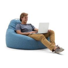 Lux by Big Joe 132 in. Teardrop Union Bean Bag