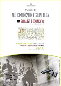 Lunedì 2 settembre a Parma presentazione del Master in Web Communication e Social Media per Giornalisti e Comunicatori