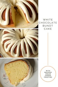 Housewife Eclectic: White Chocolate Bundt Cake with Whipped Cream Cheese Frosting