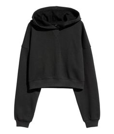 Cropped hooded top in sweatshirt fabric with dropped shoulders and ribbing at the cuffs and hem. Casual Outfits For Teens, Teenage Girl Outfits, Teen Fashion Outfits, Cute Fashion, Trendy Outfits, Cool Outfits, Cute Sweatshirts For Girls, Hooded Sweatshirts, Sweat Shirt