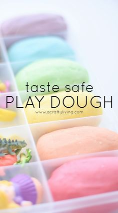 Naturally Coloured & Scented Playdough with FREE Taste Safe Recipe! www.acraftyliving.com