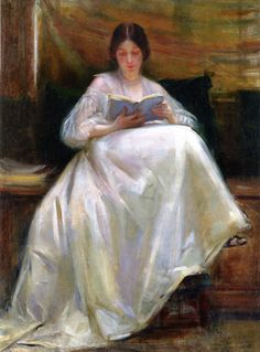 The Athenaeum - Woman Reading (Laura Muntz Lyall - ) What a gorgeous rendering of the colors in the satin or silk skirt! Reading Art, Woman Reading, Paintings I Love, Beautiful Paintings, Books To Read For Women, Renoir, Art Plastique, Oeuvre D'art, Female Art