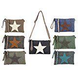 Stern Tasche Canvas Schultertasche Damentasche Schmucktasche Clutch Stofftasche Leder Stern: OBC ital-design Stern Tasche aus Canvas…