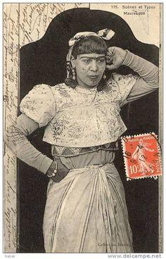 NK-M 00106-Algérie-Thème femme-Mauresque 1912 Algerian Women جزائرية