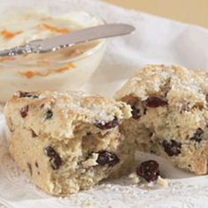 Cranberry orange scones via King Arthur Flour