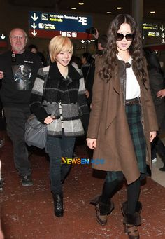 [120207] SNSD at Incheon Airport to Paris for KBS Music Bank