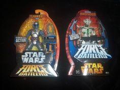2 STAR WARS FORCE BATTLERS GENERAL GRIEVOUS AND JANGO FETT(2005)