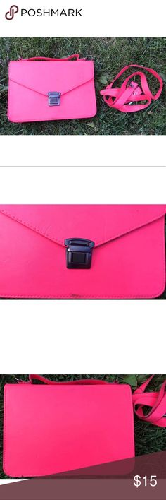 Pink Crossbody Bag Cute neon pink crossbody. Sold as seen. Scuffed up.❌NoTrades❌NoBundles❌ Bags Crossbody Bags
