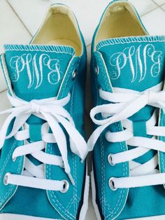 Monogrammed Converse Sneakers by Embroiderybydarlene on Etsy