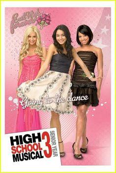 Ashley Tisdale (Sharpay Evans) Vanessa Hudgens (Gabriella Montez) & Monique Coleman (Taylor McKessie)