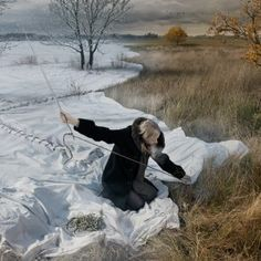 """""""Expecting Winter"""" ~ original photo manipulation by Erik Johansson  These are amazing! Check out the website."""