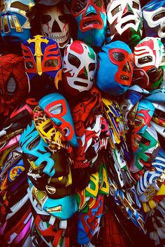 Olvera Street - Luchador Masks