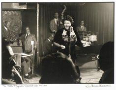 Ella Fitzgerald, Club Downbeat, NYC by Herman Leonard The Ink Spots, Great American Songbook, Jazz Poster, Duke Ellington, Ella Fitzgerald, Vintage New York, Jaz Z, Teenage Years, The Twenties