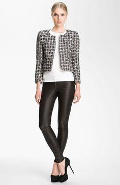 Alice + Olivia 'Alanna' Tweed Jacket available at #Nordstrom