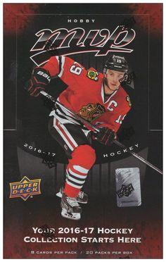 2016-17 UPPER DECK HOCKEY NHL MVP HOBBY SEALED BOX