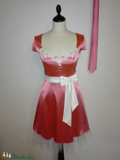 Szatén menyecske ruha és nyakkendő (nicoledesign) - Meska.hu Two Piece Skirt Set, Skirts, Dresses, Fashion, Vestidos, Moda, Fashion Styles, Skirt