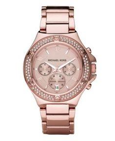 Rocktop Rose Gold Tone Stainless Steel Bracelet Watch