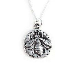 Sterling Silver Queen Bee Pendant Necklace