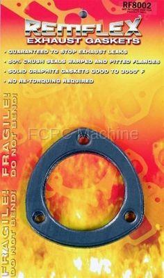 """Remflex 8001 Header Collector Gaskets 2-1//2/"""" Pair 3 bolt"""
