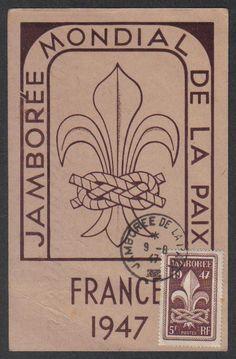 1947 WORLD SCOUT JAMBOREE Jamb Cancel MAXIMUM CARD Creases | eBay