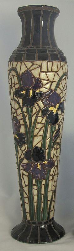 Mosaic Iris Vase...